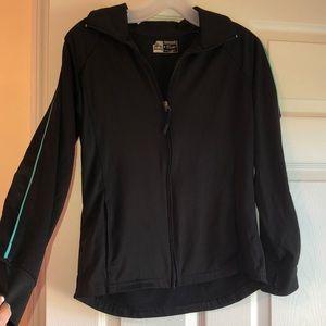 Black performance workout jacket